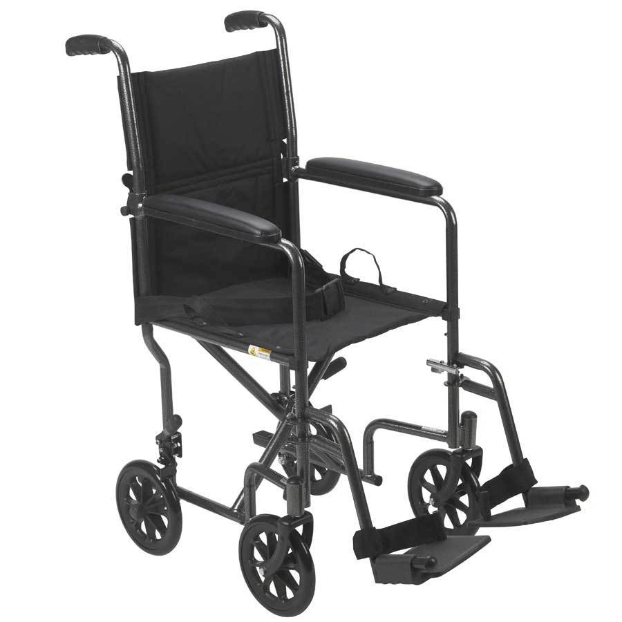 Drive Medical Lightweight Wheelchair Fixed Arms 19''