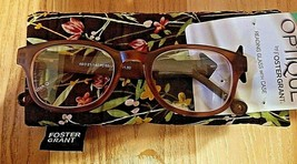 +1.50 Foster Grant Darcey Orange Womens Reading Glasses w/ Padded Case S... - $9.01