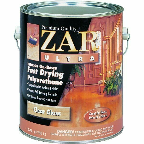1 Gallon Zar Ultra Clear Gloss Oil Based Polyurethane 32813 United Gilsonite Lab