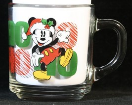 Disney Mickey Mouse Santa Ho Ho Ho Christmas Mug Anchor Hocking - $15.95