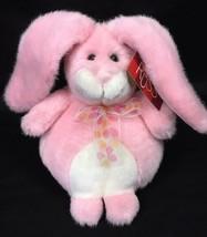 Russ Glitters Galore Pom Pom Pink Bunny Sparkle Rabbit Plush Easter w/ Tag 27712 - $11.95