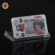 WR 10 Pounds Princess of Wales Diana Colorized Silver Art Bar UK Collect... - $3.98