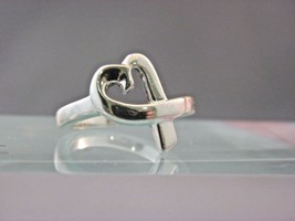 TIFFANY&CO ,Paloma Picasso Loving Heart ring STERLING SILVER Sz 6.50  - $97.02