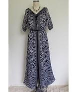 White House Black Market Maxi Dress 0 Boho Crinkle Chiffon Peasant Baroq... - $29.99