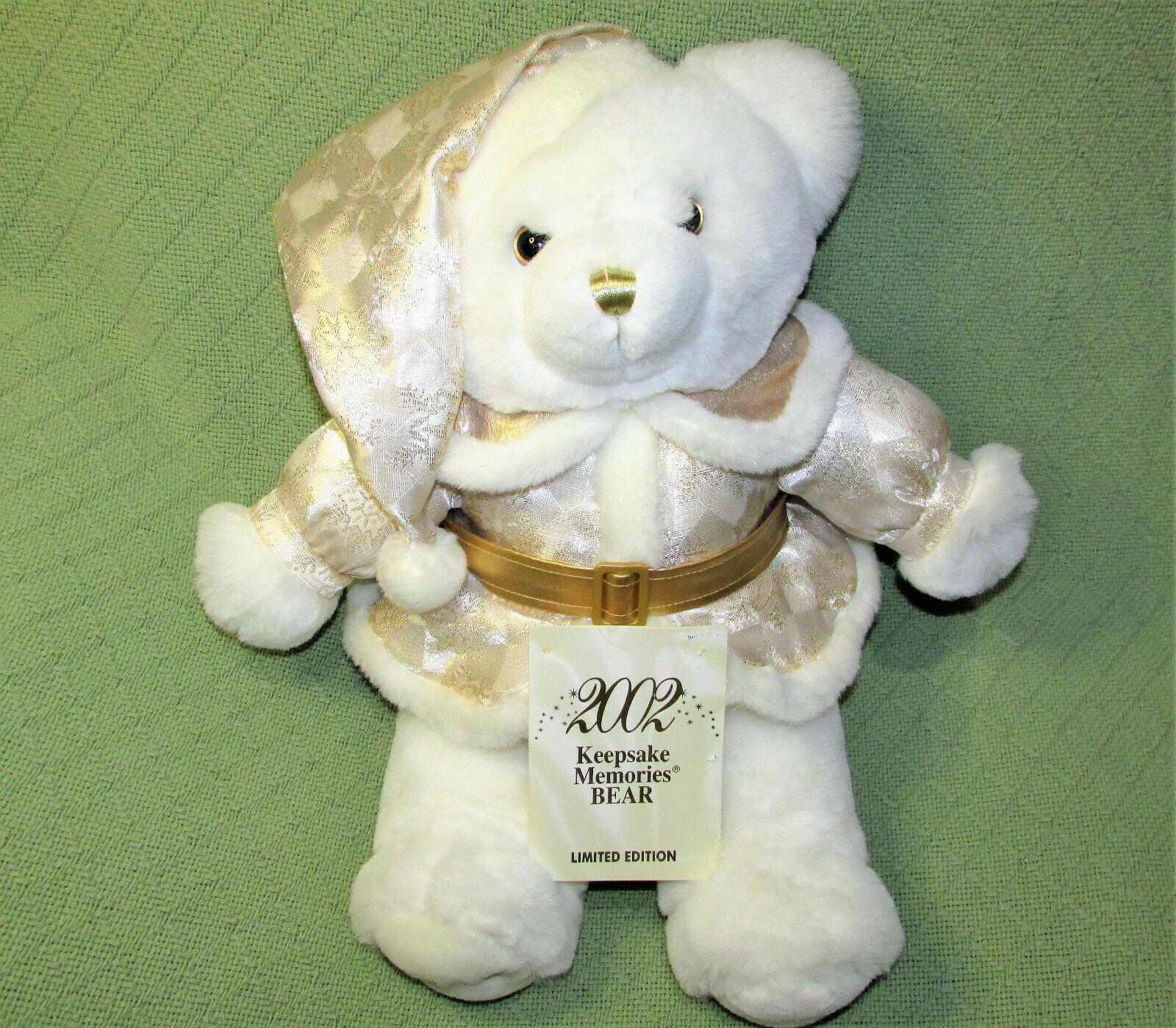 "SNOWFLAKE TEDDY LIMITED EDITION 2002 19"" KEEPSAKE MEMORIES + COA TAG STUFFED TOY - $28.71"