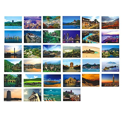 Primary image for Artistic Beautiful 34 PCS 1 Set Vintage Retro Postcards,China