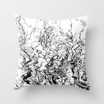 Throw Pillow Case Cushion Cover Made USA Design 80 black white abstract L.Dumas - $29.99+