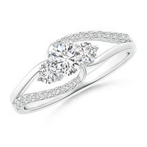 0.71ct Three Stone Natural Diamond Engagement Ring 14k Gold/Platinum Siz... - $1,463.24+