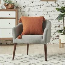 Garnet Audette Cotton 18 x 18 Throw Pillow. Color: Rust - $25.00