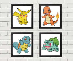 Pokémon Cross Stitch Patterns - Pikachu, Charma... - $12.50