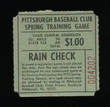 0814-----1975 Steve Blass final game ticket before being cut by Pitt Pir... - $60.00
