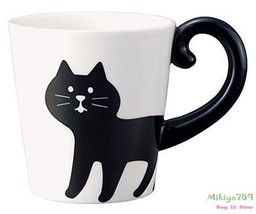 Cute Black Cat Coffee Mug Ceramic 3D Coffee Mug Animal Mug Cat Coffee Cu... - $20.15