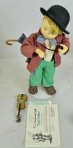 """1989 Goebel Hummel Porcelain """"Little Fiddler"""" Doll by Danbury Mint, w CO... - $85.49"""