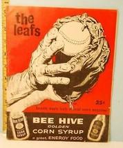 1961 Toronto Maple Leafs Minor League Baseball Program Old Coke Ad! - $39.11