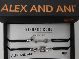 Alex and Ani Kindred Cord PERFECT FIT Set of 2 Bangle Bracelets Shiny Silver NWT - $43.55