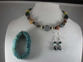 NEW Handmade Very Cool Decorative Beaded Necklace, Bracelet, and Earrings - $35.00