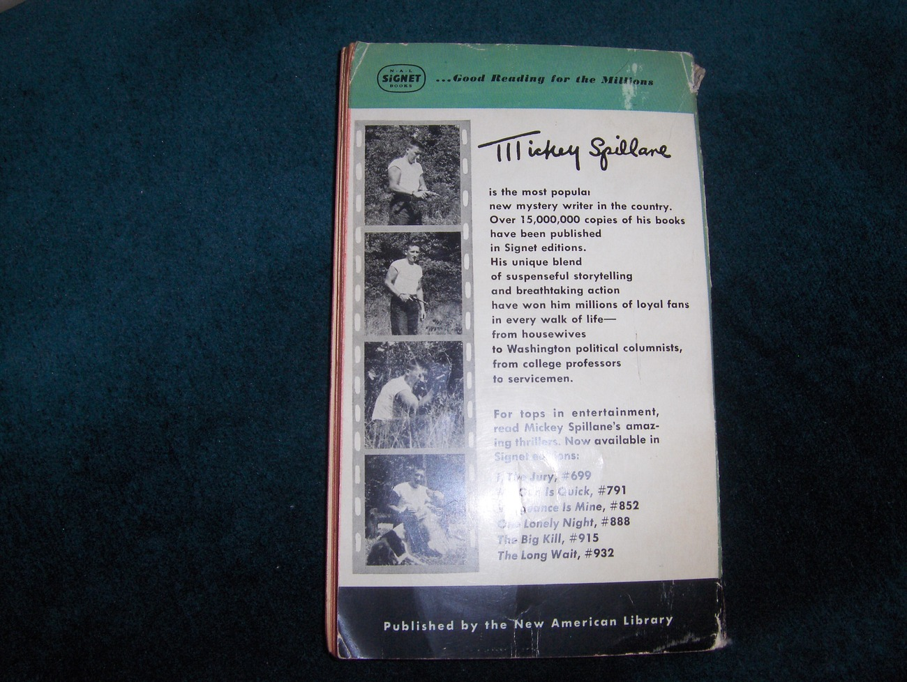 Mickey Spillane The Long Wait 1st edition
