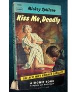 Mickey Spillane Kiss Me Deadly 1st  Paperback E... - $2.98