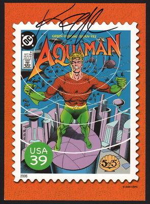 Keith Giffen 2006 Aquaman USPS  Super Heroes Stamp Post Card / Curt Swan Art