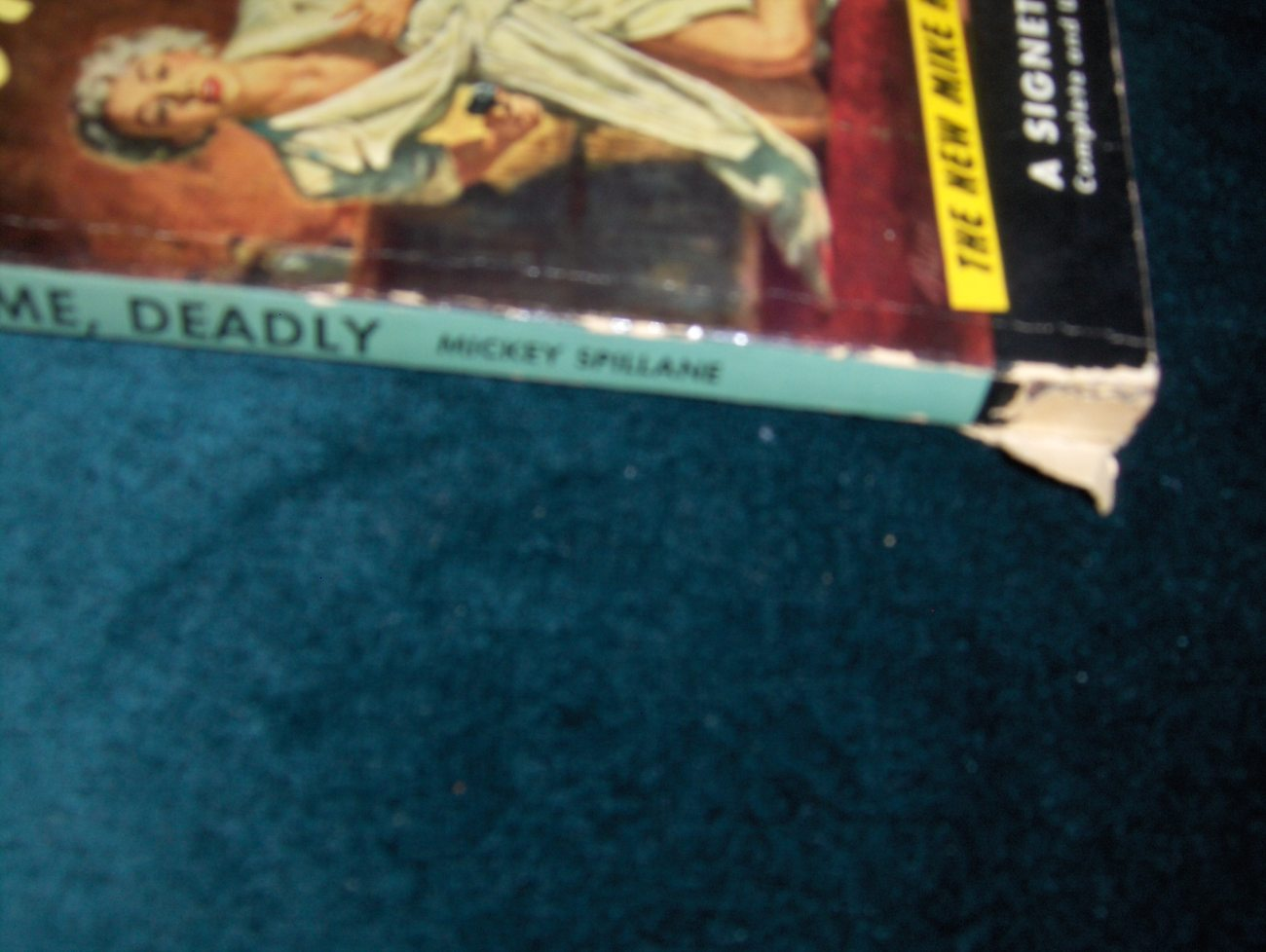 Mickey Spillane Kiss Me Deadly 1st  Paperback Edition
