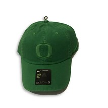 NWT New Oregon Ducks Nike H86 Logo Apple Green Pigment Prep Adjustable Hat - $22.72