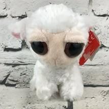 Aroura Dreamy Eyes Lamb Plush White Cute Mini Stuffed Animal Soft Toy -No Sound - $9.89