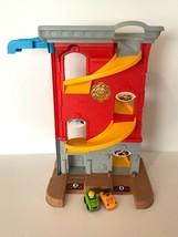 Little Tikes Big Adventure Fire Station Tall Sit N Stand Garage Rampway 2 Cars - $49.99