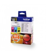 Brother Cyan, Magenta and Yellow Standard Ink Cartridge (1pcs Each), LC161CL - $49.50