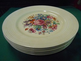 Beautiful Vintage CROWN DUCAL China Made in England Set 6 DINNER Plates ... - $66.91