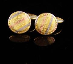 Antique Blackhills gold Cuff links Victorian Talon Grip Trade Mark Cufflinks Ros - $245.00