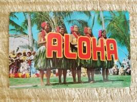 KODAK HULA SHOW AT WAIKIKI.VTG HAWAII ALOHA POSTCARD*P38 - $14.01