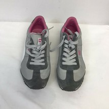 Womens Size 8.5  Puma Gray And Pink Running Shoes Clean!!! - $26.24