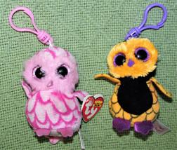 TY TEENIE CLIP ON LOT STUFFED ANIMALS PLUSH SCREECH PINKY OWL JUNGLELOVE ROSIE + image 2