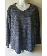St John's Bay Active Womens Shirt Large Blue Long Sleeve - $11.87