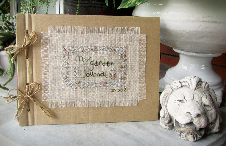Septembers Morning Glory My Garden Journal cross stitch
