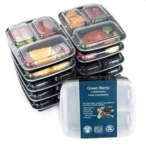 [10 Pack] 3 Compartment Meal Prep Food Storage Containers with Lids/BPA ... - €24,60 EUR
