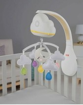 Fisher-Price Motorized Calming Clouds Infant Crib Mobile Soother Open Box - $38.61