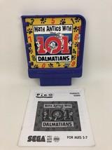 Pico Sega Game Cartridge 101 Dalmatians Math Antics Gaming Vintage 90s 1994 - $16.88