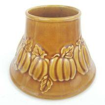 Yankee Candle Pumpkin Fall Leaves Ceramic Large Jar Candle Shade Topper - $25.00
