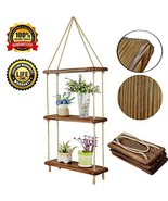 HXSWY Swing Rope Hanging Shelves for Wall Wood Floating Shelves for Bath... - $25.83