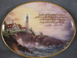 Clearing Storms Collector Plate Guiding Lights Thomas Kinkade Lighthouse - $21.95