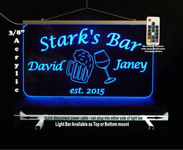 Personalized LED Man Cave Bar Sign- Garage Sign, Gift for Dad -Beer mugs image 6