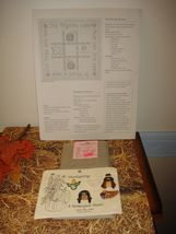 Shepards Bush Pattern Book, 18ct. Fabric And Homespun Heart Thanksgiving Buttons image 5
