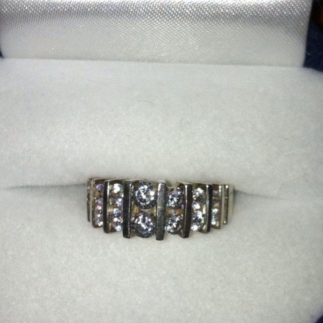 Sterling Silver DQ Diamonique Multi Row Cz QVC Ring... Sz 6