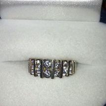 Sterling Silver DQ Diamonique Multi Row Cz QVC Ring... Sz 6 image 1
