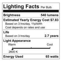 3 Pack GE 65 Watt BR30 Long Life Incandescent Light Bulb White Indoor Floodlight image 3