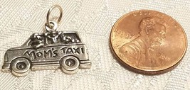 Mom's Taxi Sterling Silver Charm  STAMPED .925 image 2