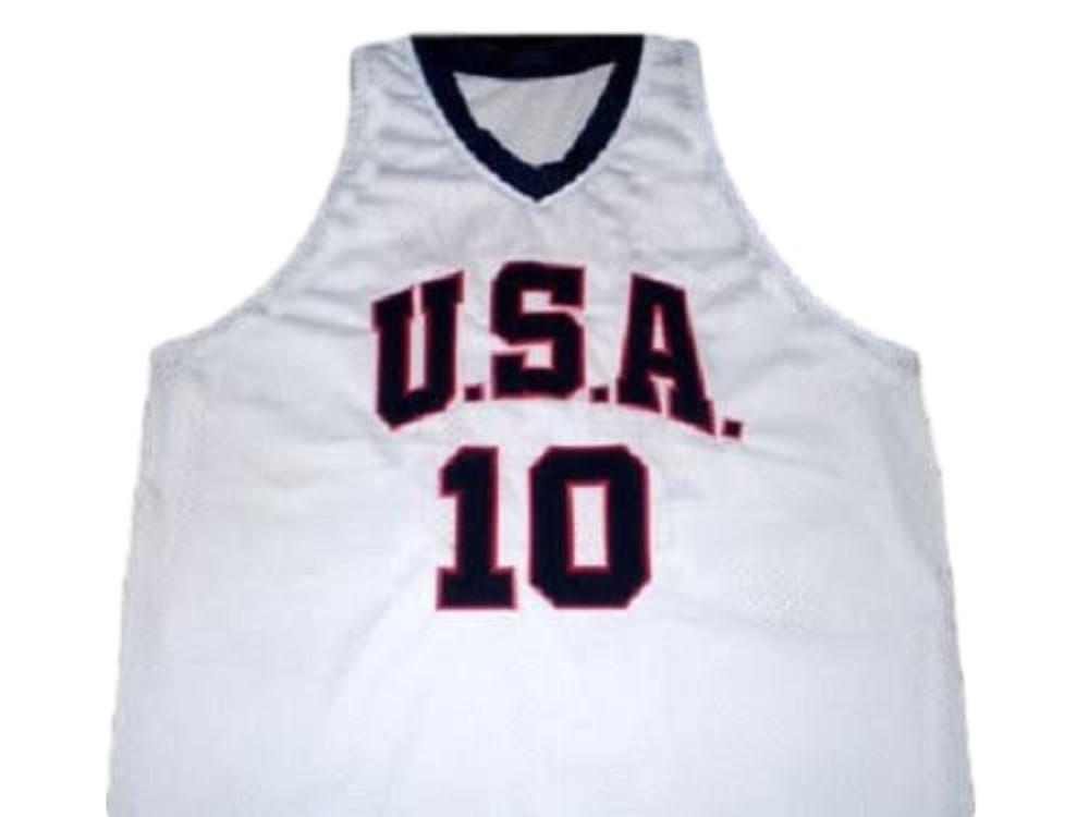 Kobe Bryant #10 Team USA New Men Basketball Jersey White Any Size