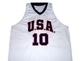 Kobe Bryant #10 Team USA New Men Basketball Jersey White Any Size image 1