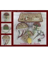 Working In The Garden Sewing Box cross stitch chart Mani di Donna  - $18.00